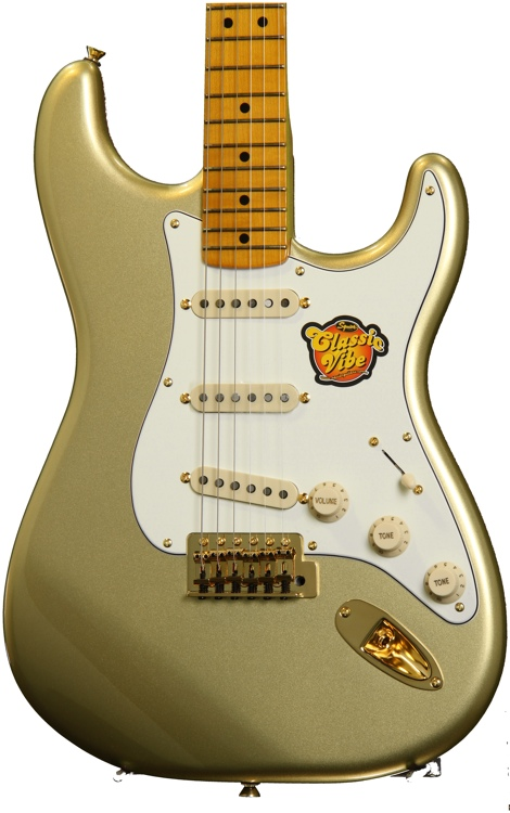 Squier 60th Anniversary Classic Vibe \'50s Stratocaster - Aztec Gold image 1