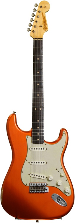 Fender Custom Shop 1963 Custom Relic Stratocaster - Faded Candy Tangerine image 1