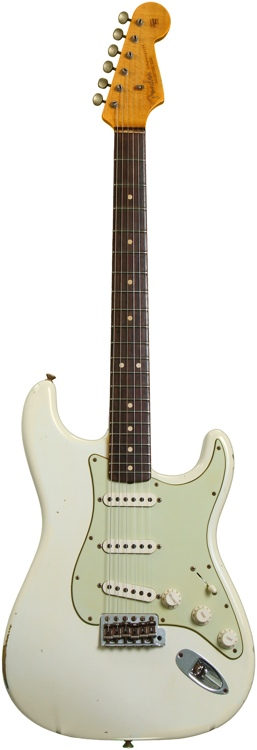 Fender Custom Shop 1963 Custom Relic Stratocaster - Olympic White image 1