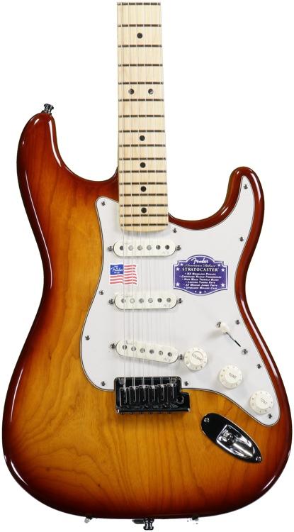 Fender American Deluxe Ash Strat - Tobacco Sunburst image 1