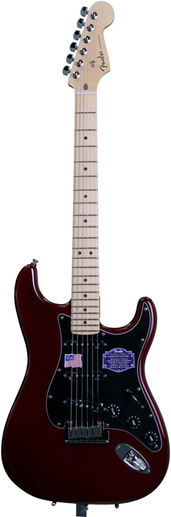 Fender American Deluxe Ash Strat - Wine Transparent image 1
