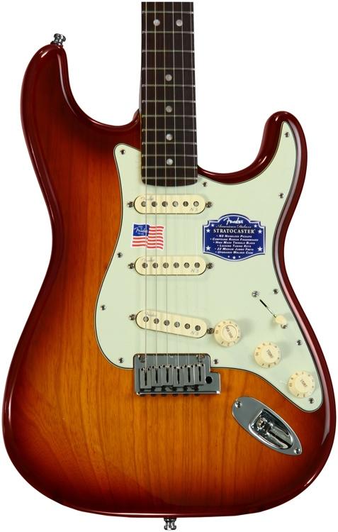 Fender American Deluxe Ash Stratocaster - Tobacco Sunburst image 1