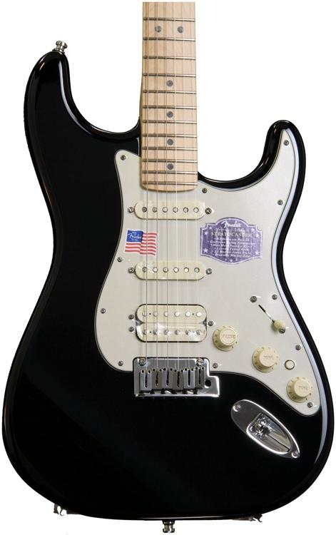 Fender American Deluxe Strat HSS - Black image 1