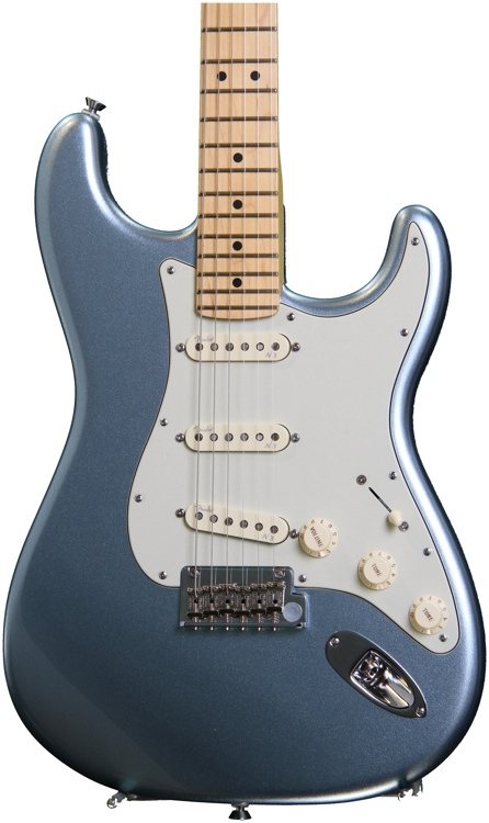Fender American Deluxe Strat Plus with Personality Cards - Mystic Ice Blue image 1
