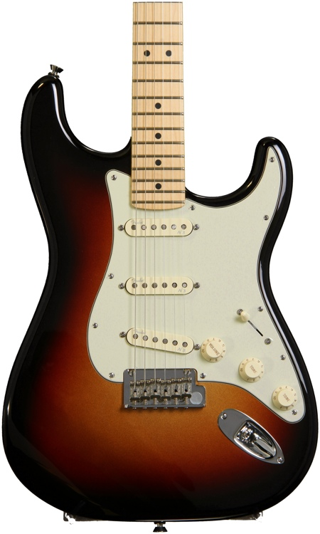 Fender American Deluxe Strat Plus with Personality Cards - Mystic 3-Color Sunburst image 1