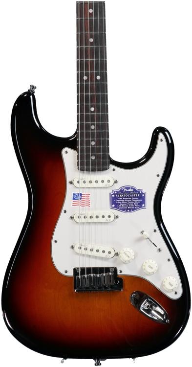 Fender American Deluxe Strat - 3-Color Sunburst, Rosewood image 1