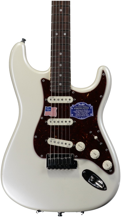 Fender American Deluxe Strat - Olympic Pearl, Rosewood image 1