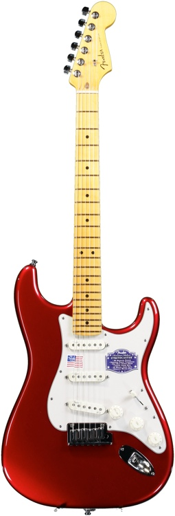 Fender American Deluxe Strat V Neck - Candy Apple Red image 1