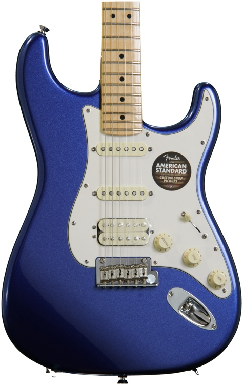Fender American Standard Stratocaster HSS - Mystic Blue, Maple image 1