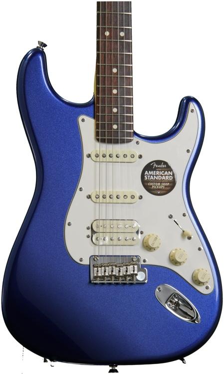 Fender American Standard Stratocaster HSS - Mystic Blue, Rosewood image 1