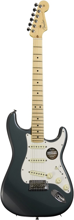 Fender American Standard Stratocaster (2012) - Charcoal Frost Metallic with Maple Fingerboard image 1