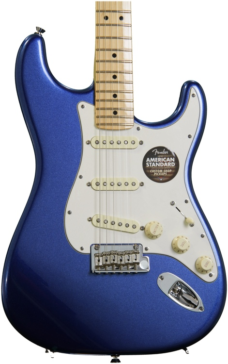 Fender American Standard Stratocaster - Mystic Blue with Maple Fingerboard image 1