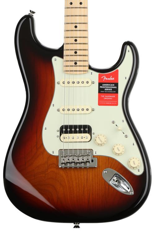 Fender American Professional HSS Shawbucker Stratocaster - 3-color Sunburst with Maple Fingerboard image 1
