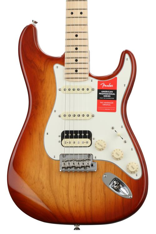 Fender American Professional HSS Shawbucker Stratocaster - Sienna Sunburst with Maple Fingerboard image 1