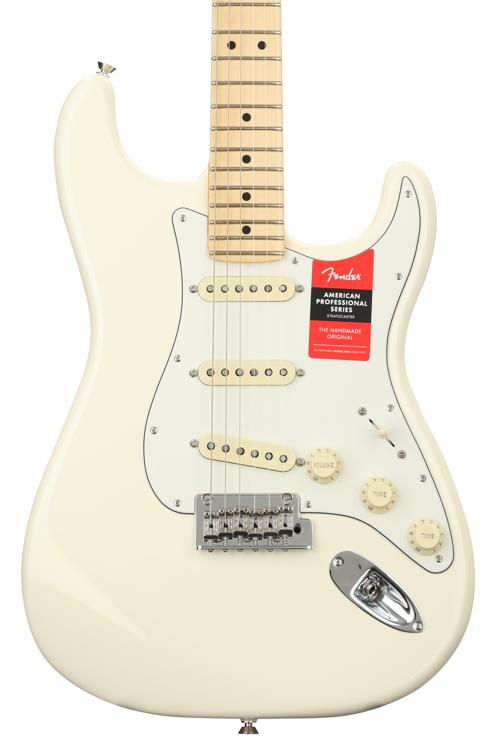 Fender American Professional Stratocaster - Olympic White with Maple Fingerboard image 1