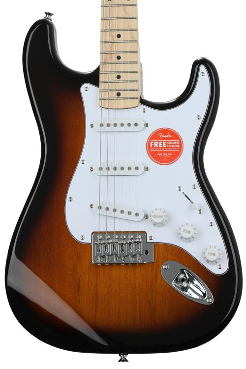 Squier Affinity Stratocaster - 2 Tone Sunburst with Maple Fingerboard image 1