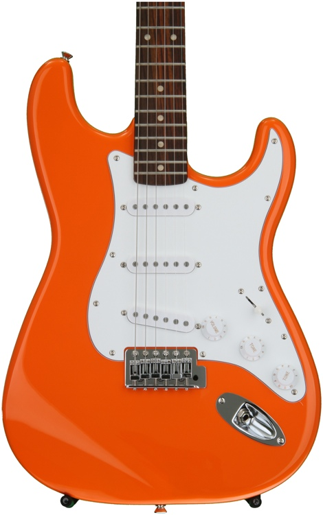 squier affinity stratocaster competition orange w rosewood fingerboard sweetwater. Black Bedroom Furniture Sets. Home Design Ideas