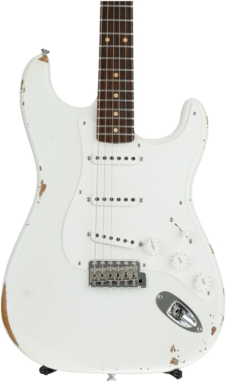 Fender Custom Shop Ancho Poblano Stratocaster Relic - Olympic White image 1