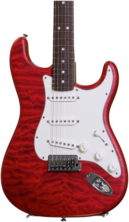 Fender Custom Shop Custom Deluxe Strat - Candy Apple Red Transparent image 1