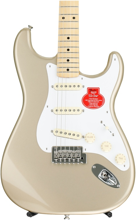 """Fender Classic Player _""""ƒ50s Stratocaster - Shoreline Gold with Maple Fingerboard image 1"""