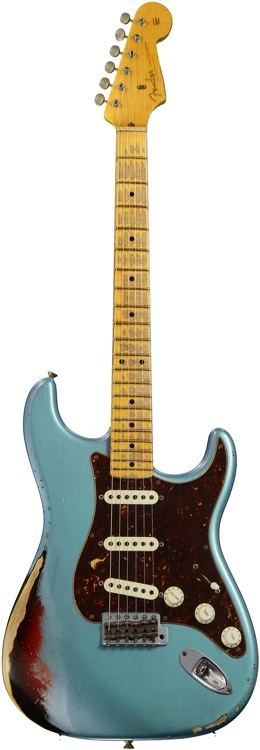 Fender Custom Shop Sweetwater Special \'57 Stratocaster - Teal and Sunburst, Heavy Relic image 1