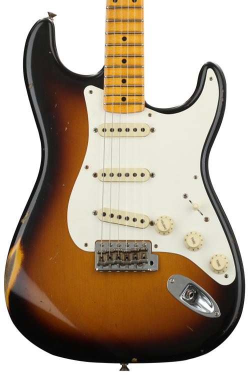 Fender Custom Shop 1957 Time Machine Relic Stratocaster - 2-color Sunburst with Maple Fingerboard image 1