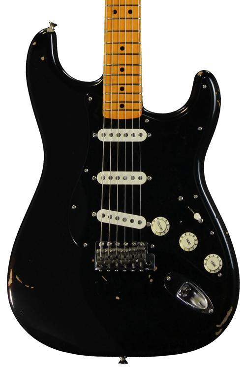 Fender Custom Shop David Gilmour Signature Series Stratocaster Relic - Black over 3-color Sunburst image 1