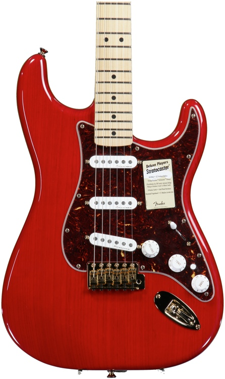 Fender Deluxe Player\'s Strat - Red Transparent image 1