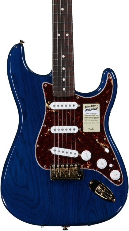 Fender Deluxe Player\'s Strat - Sapphire Blue Transparent image 1