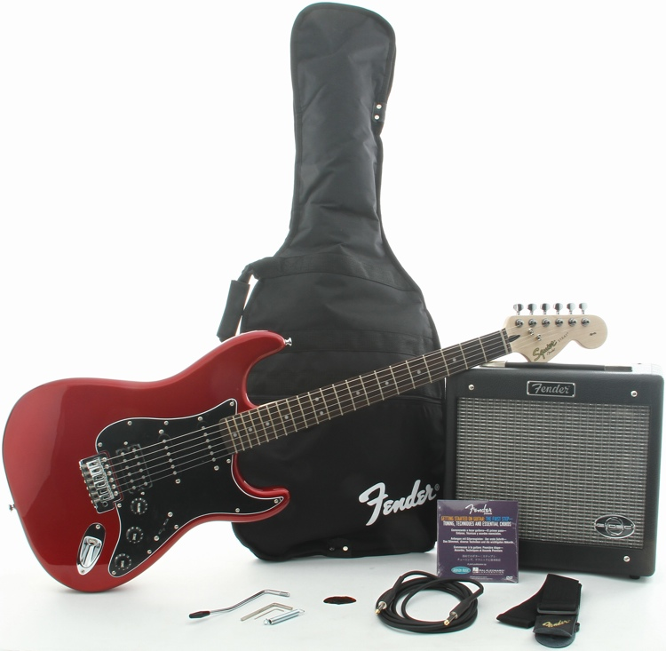 Squier Affinity Series Strat HSS with G-DEC Junior Amp - Candy Apple Red image 1