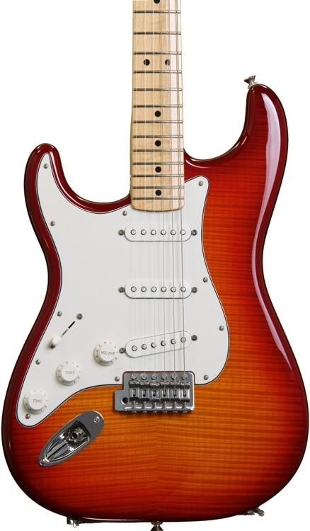 Fender Standard Stratocaster Plus Top Left-handed - Aged Cherry Burst with Maple Fingerboard image 1