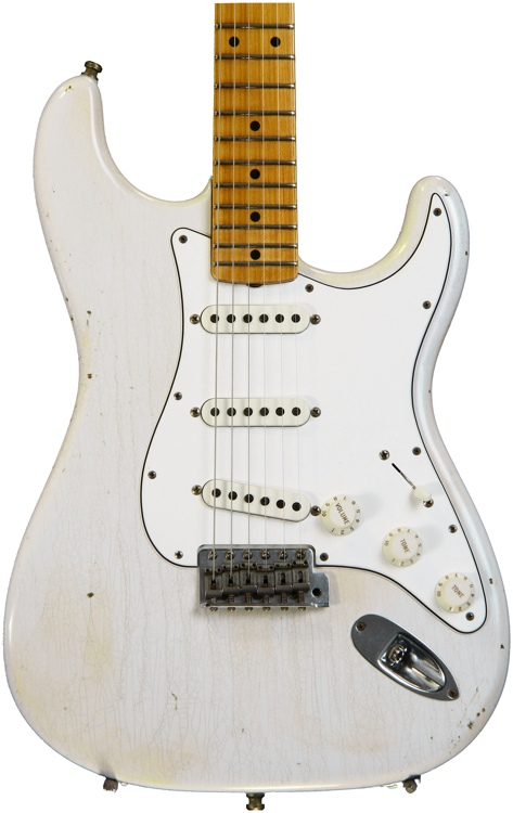 Fender Custom Shop Postmodern Stratocaster Journeyman Relic - Olympic White with Maple Fingerboard image 1