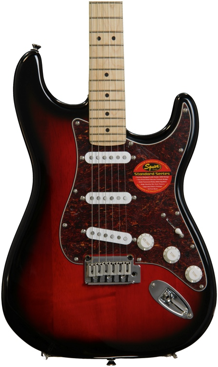 Squier Standard Stratocaster - Antique Burst with Maple Fingerboard image 1