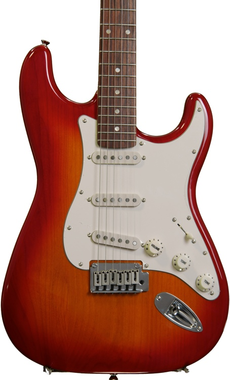 Squier Standard Stratocaster - Cherry Sunburst with Rosewood Fingerboard image 1