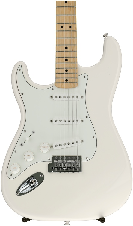Fender Standard Stratocaster Plus Top Left-handed - Arctic White with Maple Fingerboard image 1