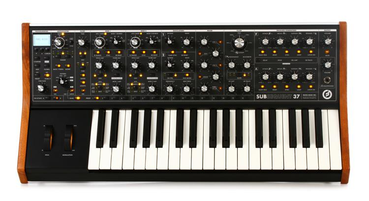 Moog Subsequent 37 synthesizer.