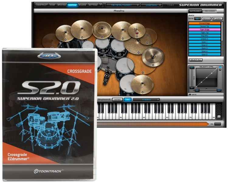 Toontrack Superior Drummer 2.0 - Crossgrade from EZdrummer image 1