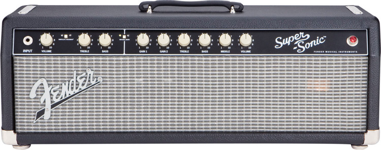 Fender Super-Sonic 60 Head - Black image 1