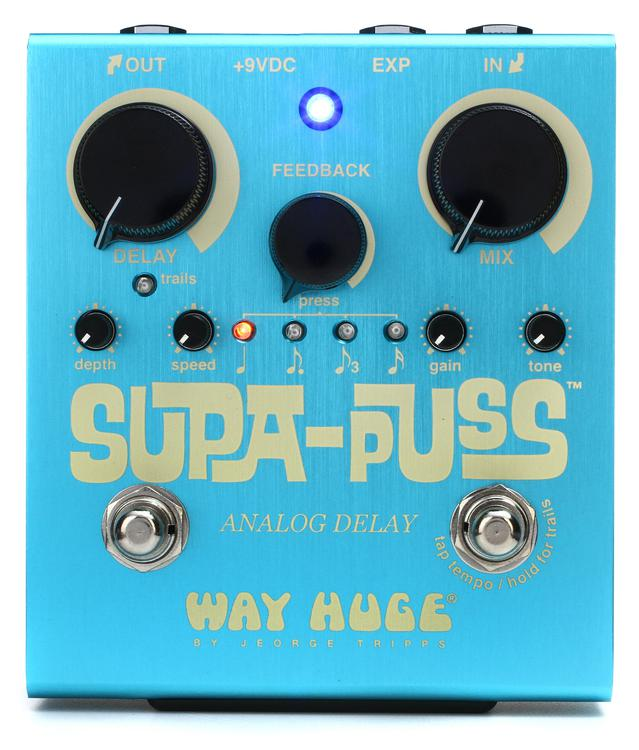 Way Huge Supa-Puss Analog Delay Pedal with Tap Tempo image 1