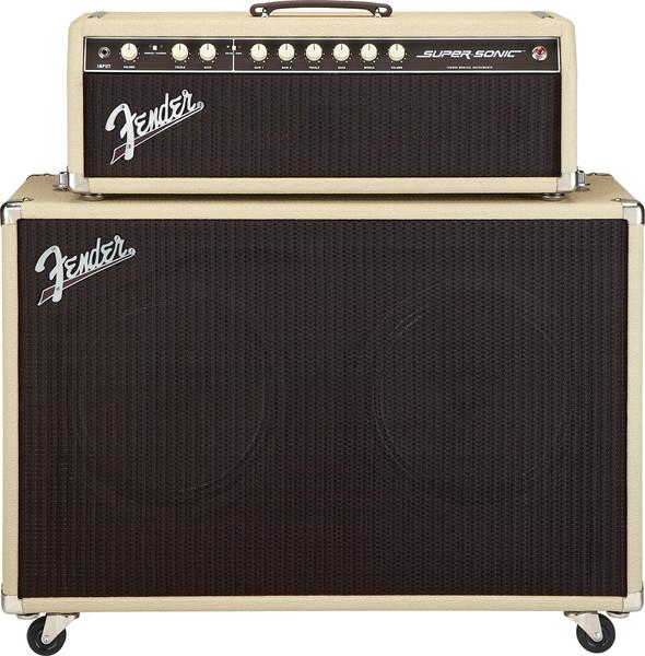 Fender Super-Sonic 212 Enclosure - Blonde / Oxblood - Blonde / Oxblood image 1