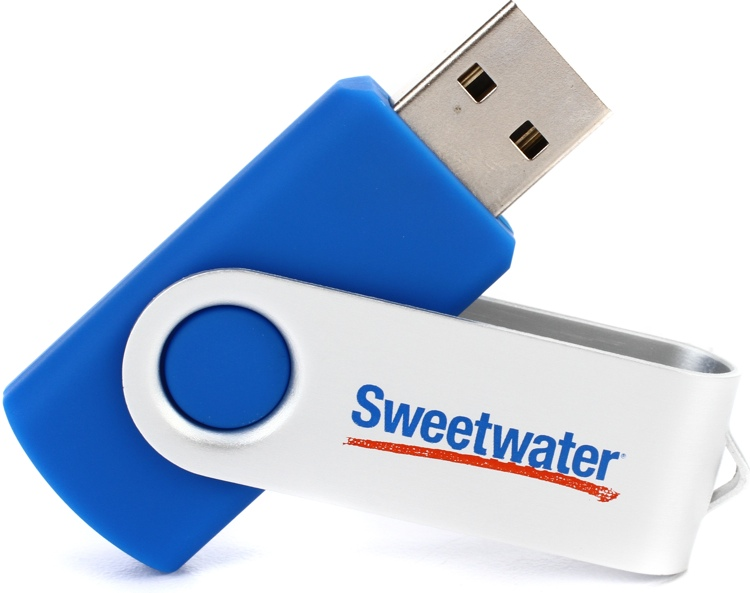 Sweetwater 8GB USB 2.0 Flash Drive - Blue image 1
