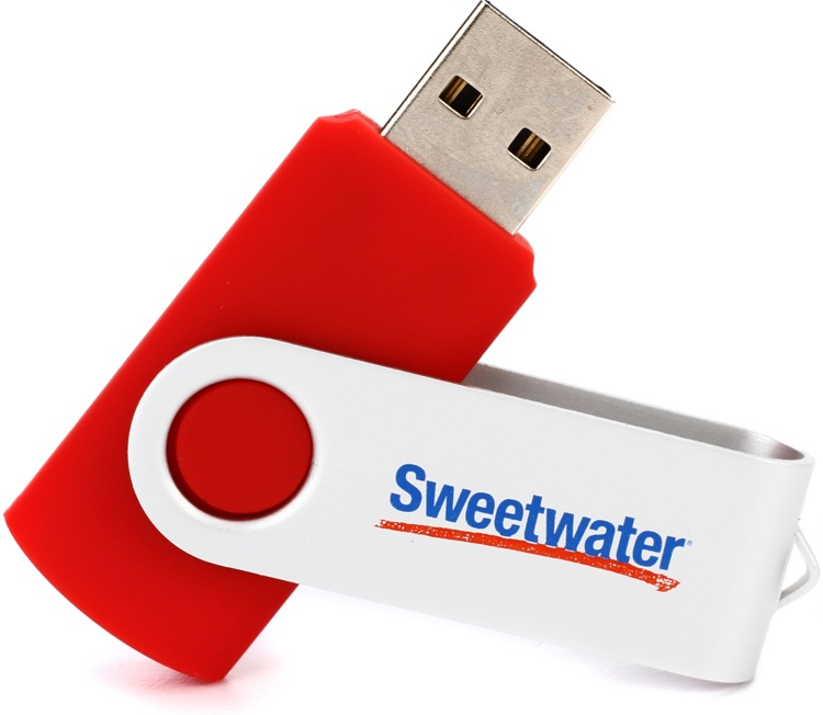 Sweetwater 8GB USB 2.0 Flash Drive - Red image 1