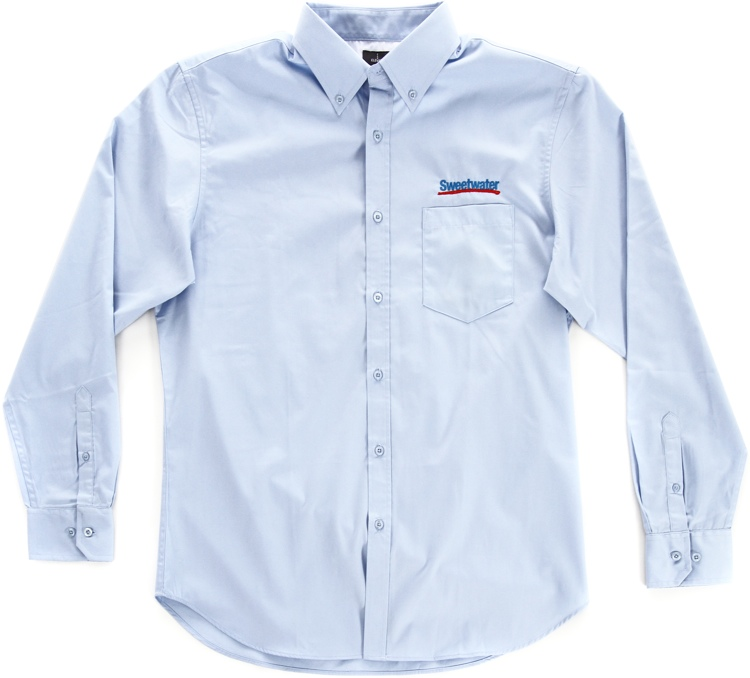 Sweetwater Men\'s Long-sleeve Oxford - Frost Blue, 2XL image 1