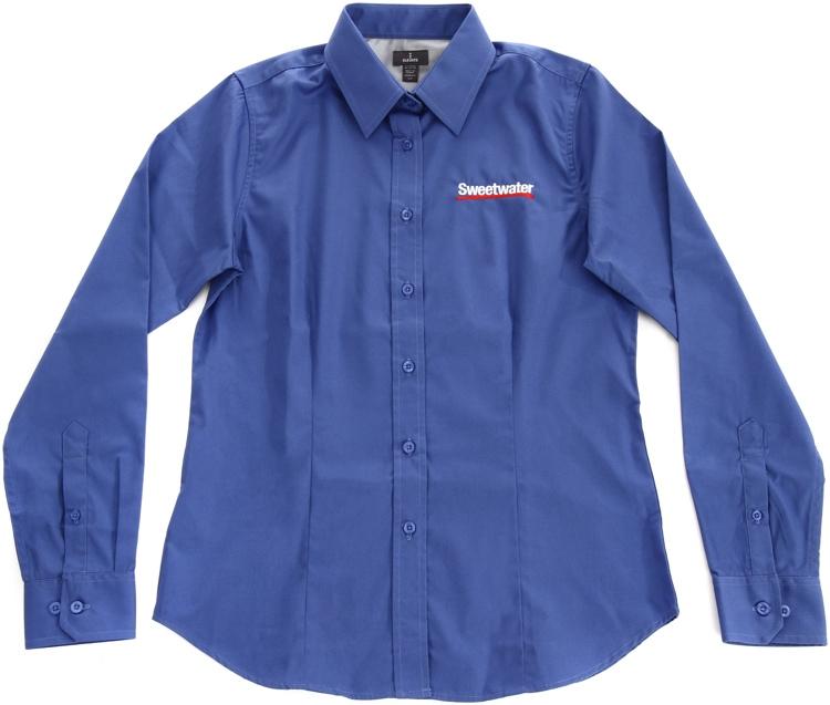 Sweetwater Women\'s Long-sleeve Oxford - Blue, Medium image 1