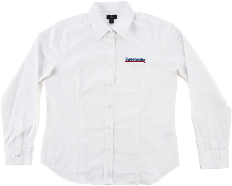 Sweetwater Women\'s Long-sleeve Oxford - White, Small image 1