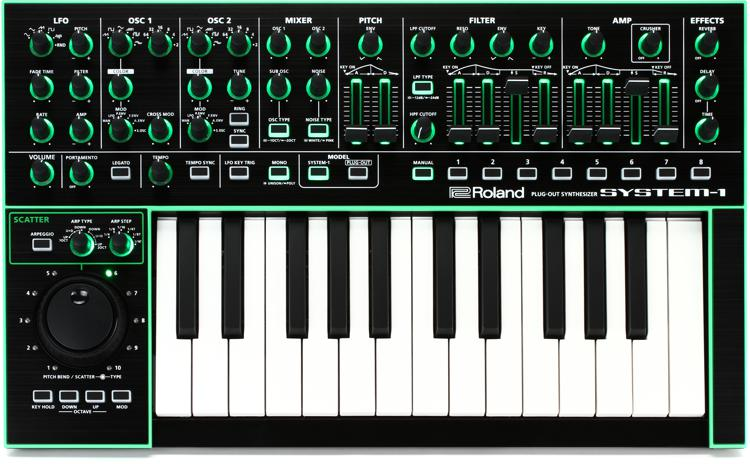 roland system 1 plug out synthesizer sweetwater