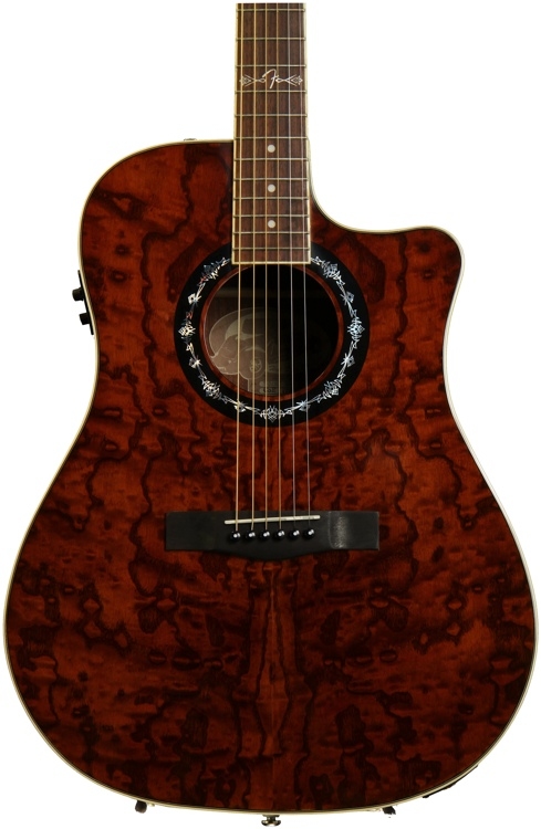 Fender T-Bucket 300-CE - Ash, Trans Dark Brown image 1