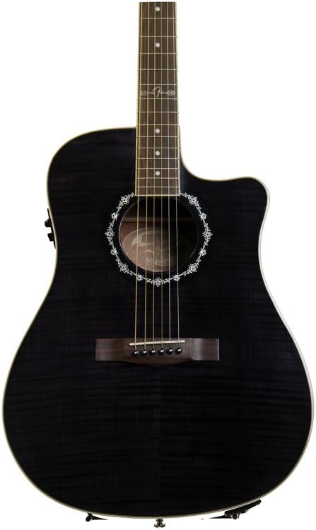 Fender T-Bucket 300-CE - Black, Flame Maple image 1