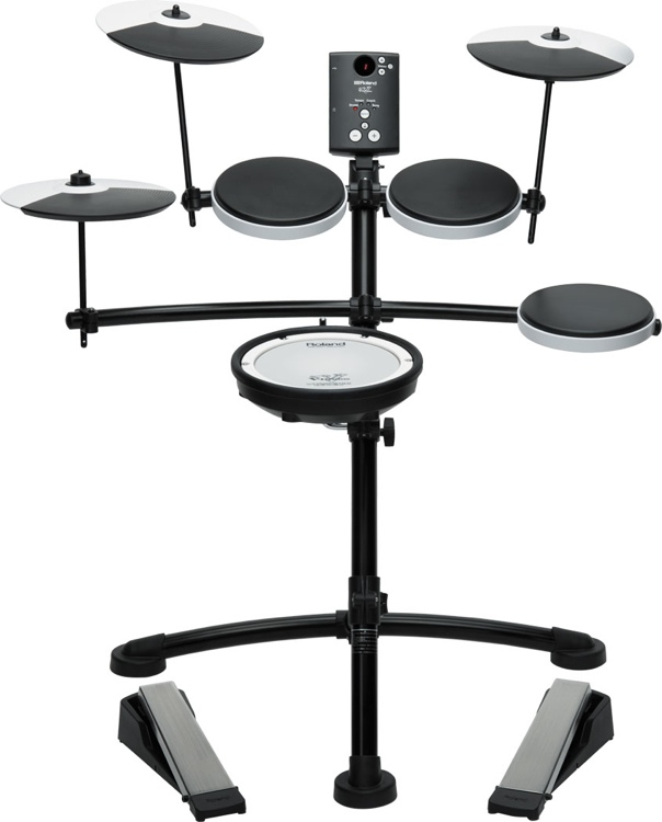 roland td 1kv 5 piece electronic drum kit with mesh snare