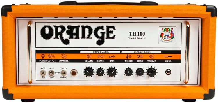 Orange TH100 - 100/70/50/35-watt 2-channel Tube Head - Orange image 1